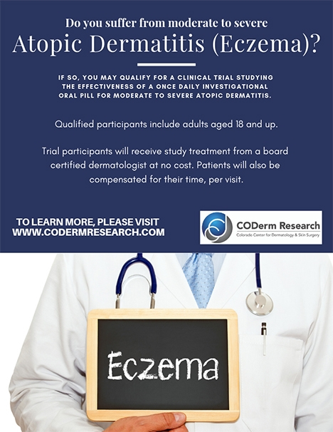 Clinical Trial for Atopic Dermatitis Eczema